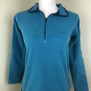 Patagonia Fleece Pullover Front And Arm Zip Blue
